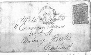 Envelope from Thomas Henry Smith (from Australia) to his father, William Harmon Smith, (in England)