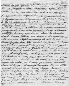 Letter {Page 2} Death of Thomas Henry Smith, Brisbane.