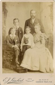 (by deduction) Henry and Kate Walsingham with their sons Harold Francis Walsingham, John Henry Walsingham and Frank Gordon Walsingham