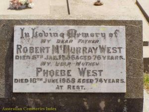 Robert McMurray  and Phoebe West