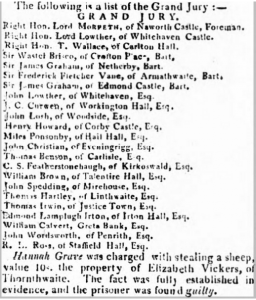 Trial of  Hannah Grave