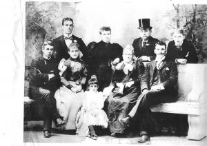 Johannis Theodore Carl Trödel ( Charles Troedel) and Family, taken circa 1895